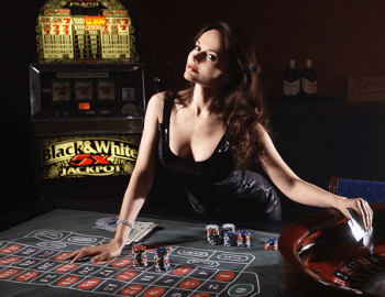 Online gambling through a virtual casino